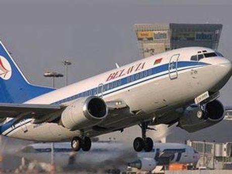 Самолет белорусских авиалиний