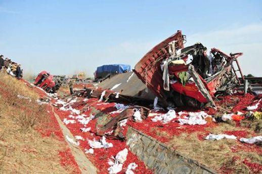 Грузовик после взрыва