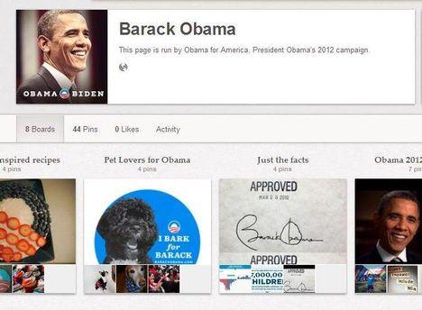 Страница Барака Обамы