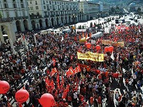 Страйк в Італії проти заходів жорсткої економії