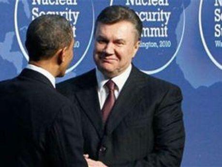 Барак Обама та Віктор Янукович