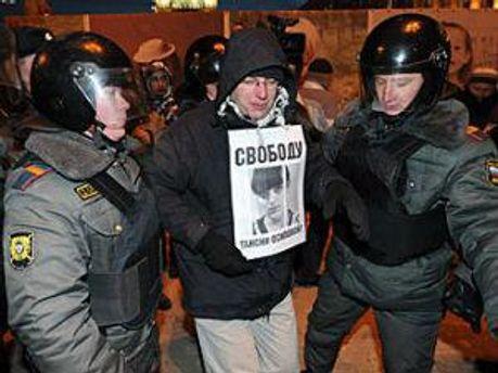 Задержали участника акции 31 января 2012 года