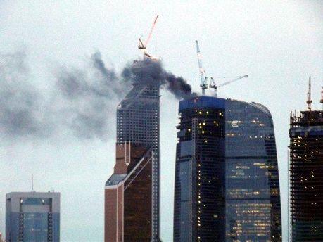 Пожежа у 60-метровій вежі