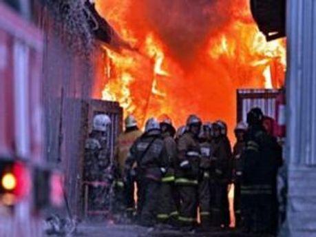 Пожар на московском рынке