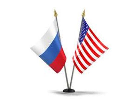 Прапори Росії та США