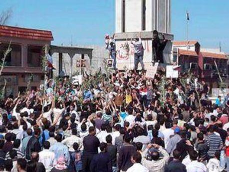 Уличные протесты в Сирии