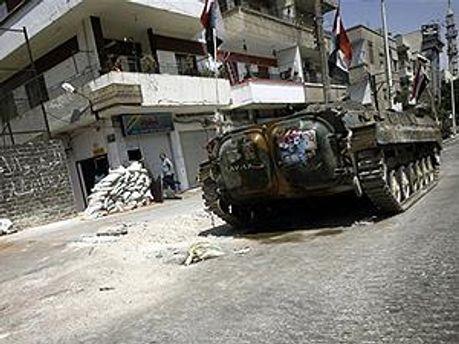 Машина сирийских правительственных войск