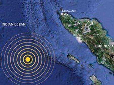 Землетрус біля Індонезії