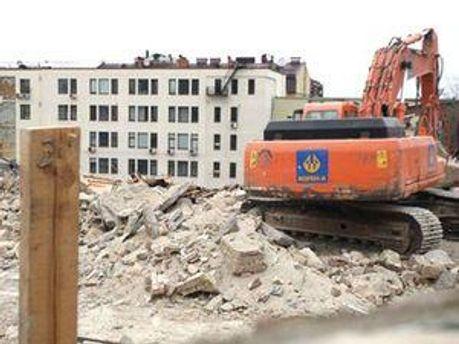 Знесення будинків на Андріївському узвозі