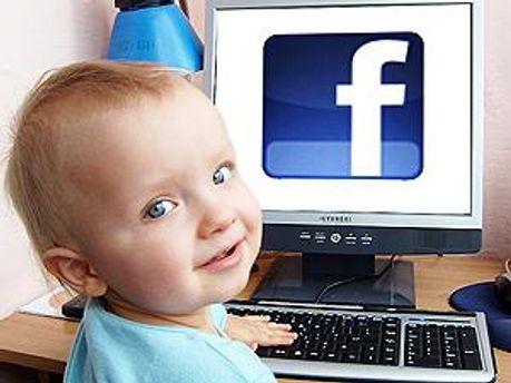 Дітий користуються Facebook