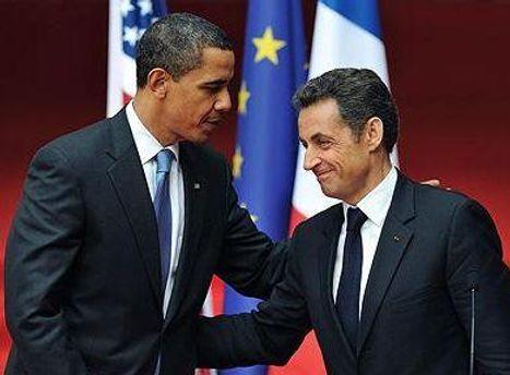 Барак Обама та Ніколя Саркозі