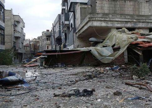 Вулиці сирійського Хомса після сутичок урядових військ та опозиції