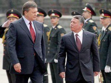 Виктор Янукович и Абдалла II бин Аль-Хусейн