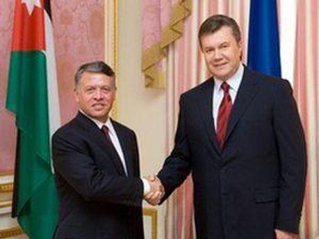 Віктор Янукович та Абдалла ІІ бін Аль-Хусейн