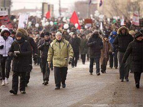 Февральское шествие оппозиционеров в Москве