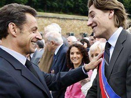 Николя Саркози с сыном