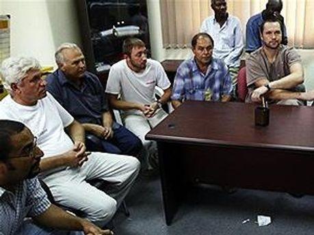Задержанные в Ливии украинцы