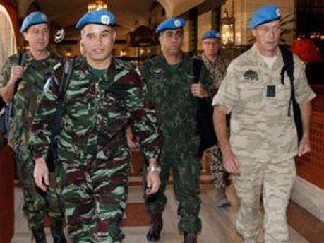 Наблюдатели мониторинговой миссии ООН в Сирии