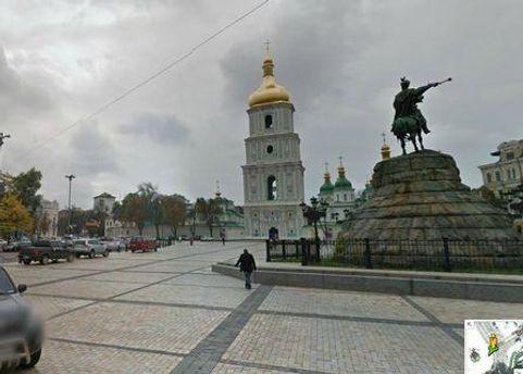 Софийская площадь в Google Street View