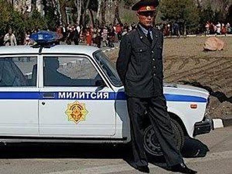 Милиционер в Таджикистане