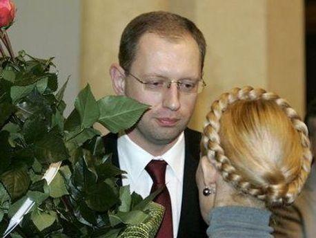 Арсений Яценюк и Юлия Тимошенко
