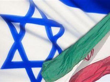 Прапори Ізраїлю та Ірану