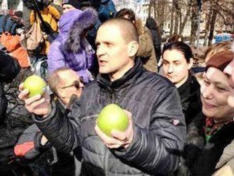 Сергій Удальцов на мітингу