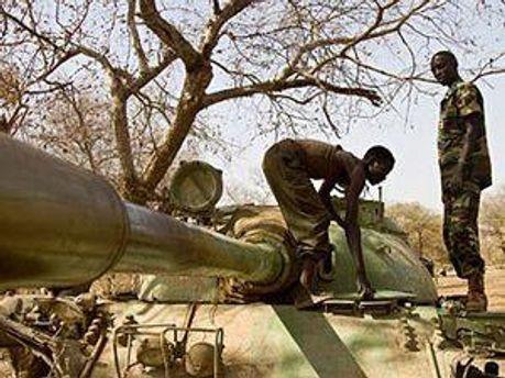 Военнослужащие Южного Судана