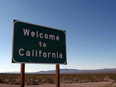 Въезд в штат Калифорния
