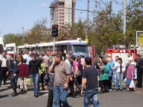 Центр Днепропетровска после взрыва