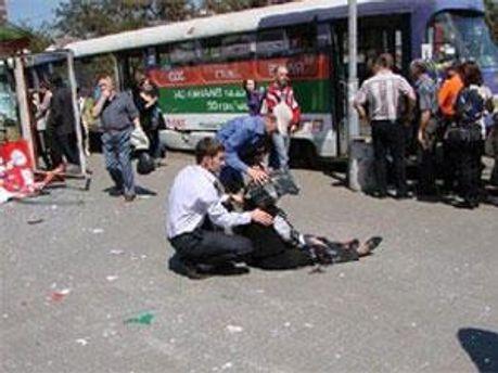 Фото с места одного из взрывов