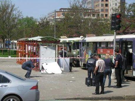 Место одного из взрывов