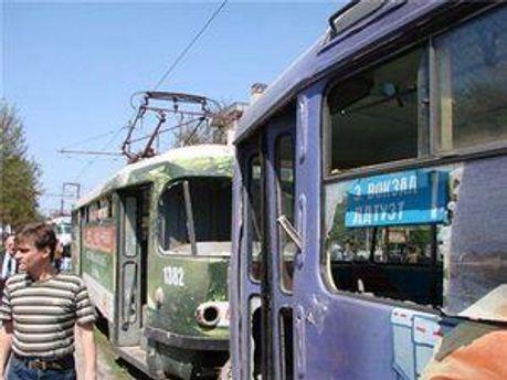 Место взрыва в Днепропетровске