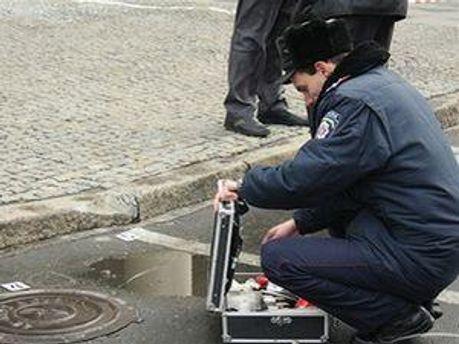 Міліція на місці вибухів у Дніпропетровську