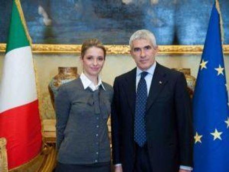 Євгенія Тимошенко та П'єр Фердінандо Казіні
