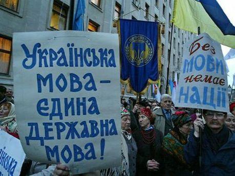 Мітингувальники проти законопроекту