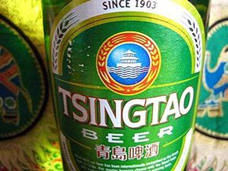 Етикетка пива Tsingtao