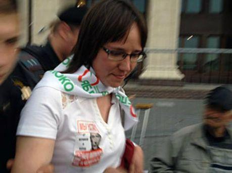 Задержание в центре Москвы