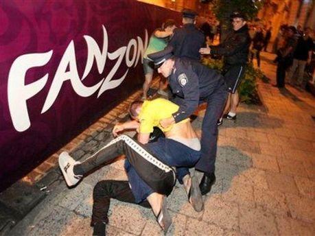 Украинцы во время драки