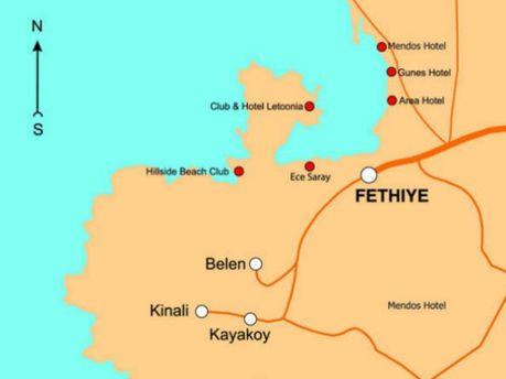 Фетхіє на крті Туреччини