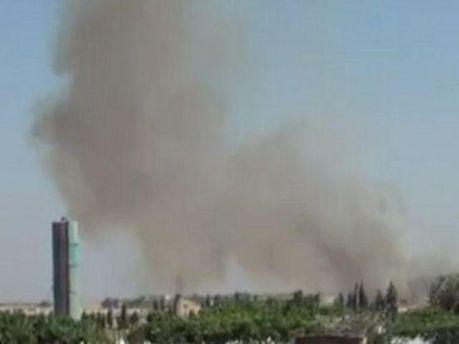 База ПВО в диму (кадр з відео)