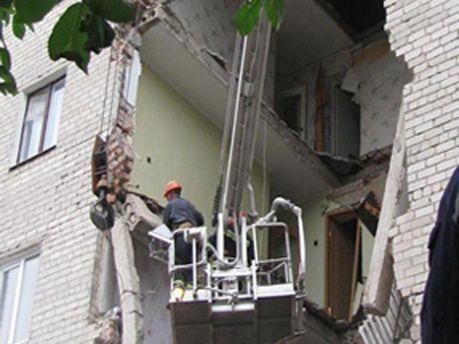 Обвалений будинок у Луцьку