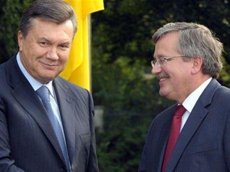 Виктор Янукович с Брониславом Коморовским