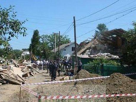 Часть дома уничтожило взрывом