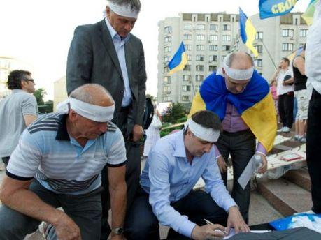Голодание возле Украинского дома