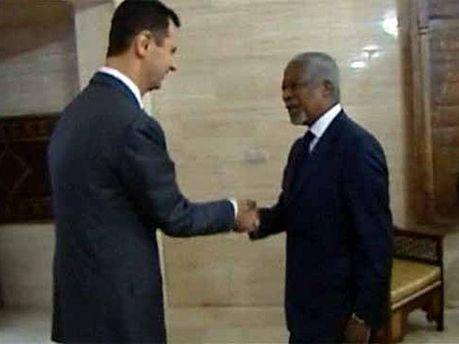 Башар Асад та Кофі Аннан