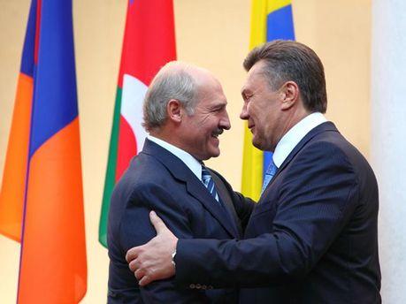 Олександр Лукашенко та Віктор Янукович