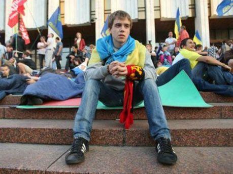 Активісти під Українським домом