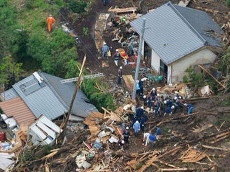 Последствия оползней в Кумамото