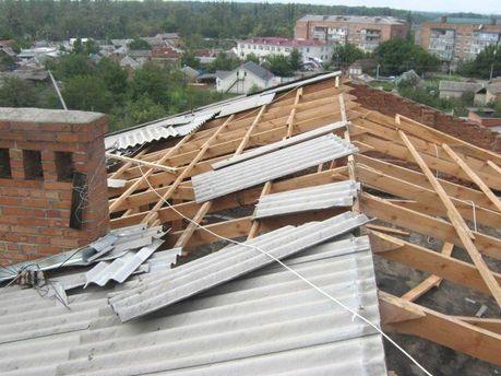 Непогода сорвала крыши на Киевщине